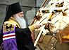Архиепископ Викентий освятил купола и кресты для строящегося Свято-Никольского храма в поселке Белокаменный