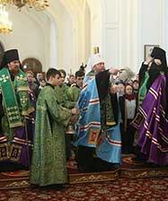 Глава Екатеринбургской митрополии совершил молебен на начало нового года