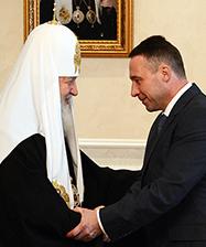 Святейший Патриарх Кирилл поздравил Полномочного представителя Президента России в УрФО И.Р. Холманских с 45-летием со дня рождения.