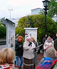 В центре города возле часовни святой Екатерины открылась выставка «Екатеринбургъ 1917. Город, которого нет»