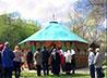 Екатеринбургскому дому-интернату на ул. Ляпустина подарили беседку ручной работы