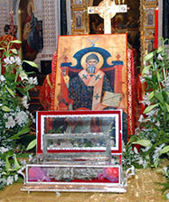 Расписание богослужений в дни пребывания десницы святого Спиридона