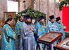 Клирики Рождественского благочиния соборно помолились в восстанавливаемом Успенском соборе