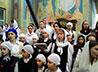 Сотни детей встретили праздник Входа Господня в Иерусалим в Свято-Троицком соборе Екатеринбурга