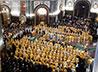 Еп. Алексий поучаствовал в Литургии по случаю 11-й годовщины интронизации Патриарха Кирилла