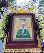 7 марта в Иоанно-Предтеченский собор будет принесена чудотворная икона блаженной Матроны Московской