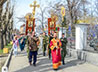 Военнослужащие войск национальной гвардии России прошли крестным ходом в честь вмч. Георгия Победоносца