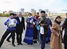 Казаки Исетской линии выступили на праздновании 150-летия Тюменского ипподрома