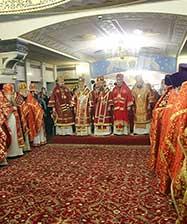Архиереи Православной Церкви совершили праздничную литургию в Собор новомучеников и исповедников Церкви Русской в Храме на Крови