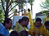 Участники паломнического слета «Каменный пояс» совершили Литургию на месте разрушенного храма