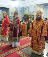 Сонм архиереев совершил праздничную Божественную литургию в День Небесной покровительницы Екатеринбурга