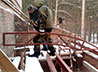 На стройплощадке храма свт. Луки Крымского ведутся кровельные работы