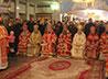 В Храме-на-Крови божественную литургию соборно совершили восемь архиереев