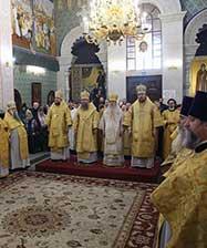 В день 136-летия Екатеринбургской епархии в Храме на Крови совершена праздничная Божественная литургия