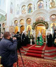 В Храме на Крови состоялась торжественная встреча Патриарха Кирилла и принесение мощей святой Елисаветы Феодоровны