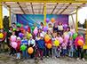 Игровой комплекс подарили детям поселка Рассоха прихожане Почаевского храма