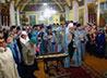 Праздничную Литургию в Знаменской церкви возглавил митрополит Кирилл