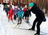 Первой лыжней отметили трехлетие православного детского сада при храме Целителя Пантелеимона