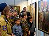 Казачьи кадеты посетили выставку картин московского художника
