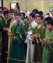 21 апреля на праздник Входа Господня в Иерусалим состоится «детская» Божественная литургия