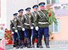 Пышминские казаки почтили воинов-победителей почетным караулом у обелисков