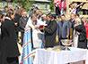 Сегодня владыка Кирилл совершил чин освящения фундамента нового детского сада в г. Березовском