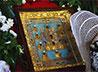 Курско-Коренная икона Божией Матери побывала на стройплощадке каменского храма
