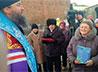 Владыка совершил чин освящения куполов с крестами для строящегося храма в Нейво-Рудянке