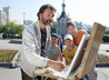 К юбилею Царской обители уральский художник запечатлел восстановленный после пожара храм