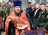 Молебен и чин освящения куполов храма совершили в воинском соединении