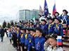 Участникам православного молодежного движения вручили Государственный флаг России