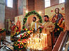 Престольный праздник встретил строящийся храм свт. Луки в Екатеринбурге