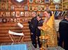 Священник Александр Есенин окропил крещенской водой общежития и другие объекты ИК-10