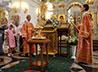 Правящий архиерей совершил Всенощное бдение в храме Большой Златоуст
