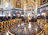 В соборном служении в Храме Христа Спасителя принял участие еп. Алапаевский и Ирбитский Леонид