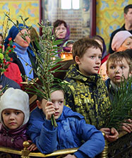 1 апреля на праздник Входа Господня в Иерусалим состоится «детская» Божественная литургия