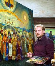 В Екатеринбурге открыта выставка Филиппа Москвитина «Россия небесная», посвященная 100-летию памяти Царской семьи