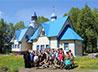 Участники детского похода помогли в восстановлении разрушенного храма п. Верхняя Баранча