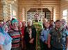 В строящейся церкви поселка Воронцовка совершили праздничный молебен
