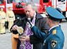 На месте будущего памятника героям-пожарным освятили памятный знак