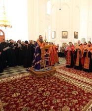 Праздничное вечернее богослужение совершено в Свято-Николаевском монастыре в Верхотурье