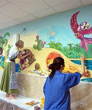 Епархиальный отдел культуры и творческая группа «Арт-десант» проводят акцию «Тепло живописи – в сердца людей»