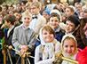 В архиерейском богослужении приняли участие около тысячи детей из 40 воскресных школ