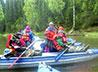 Дети и взрослые качканарского храма совершили водный поход по реке Койва