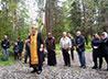 Молебен о расстрелянных в годы Гражданской войны совершили у поклонного креста в Верхнем Тагиле
