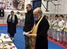 Очередной молебен совершили в ирбитском клубе карате «ИРБИС»