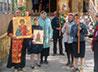 Мощи целителя Пантелеимона прихожане п. Гари встретили крестным ходом