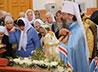 В день Крестителя Руси владыка Кирилл совершил Божественную Литургию в храме равноап. кн. Владимира в Монетном