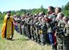 Во время учебно-тренировочных казачьих сборов в д. Беленичное возвели походную часовню