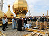 В светлый день Успения Пресвятой Девы Богородицы владыка Кирилл освятил кресты и купола строящегося в Академическом храма